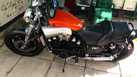 Yamaha vmax 1200 with marving exhaust - YouTube