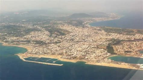 Landing in Rhodes airport - Embrear 195 Arkia airlines