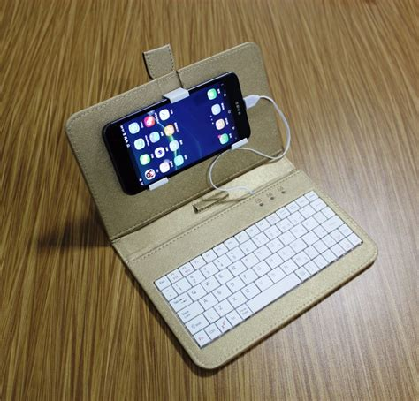 Mobile Phone Case with wired USB Keyboard mouse Pure Color
