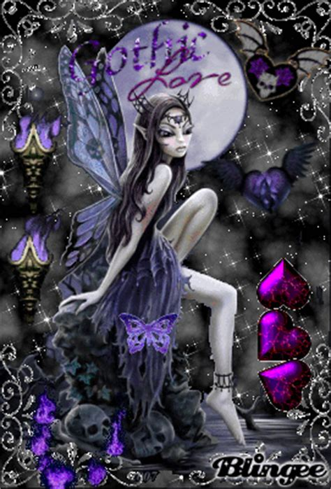 purple gothic fairy Picture #111947267   Blingee