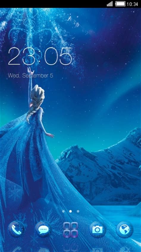 Elsa from Frozen free android theme – U launcher 3D