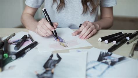 Fashion Designer Drawing and Paint