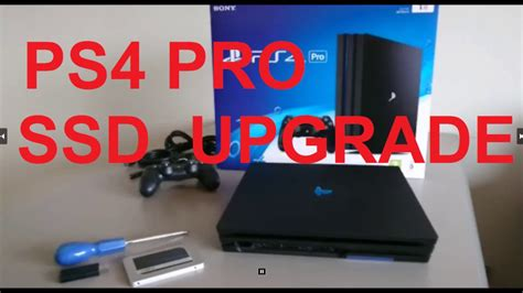 HOW TO UPGRADE PS4 PRO with a SSD or larger Hard Drive
