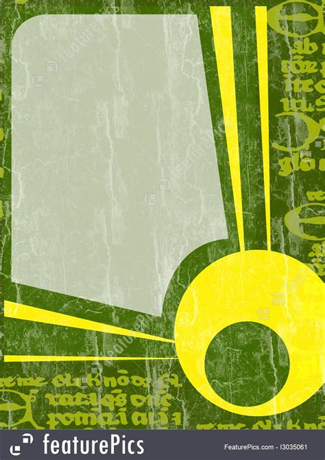 Templates: Green And Yellow Border And Background - Stock