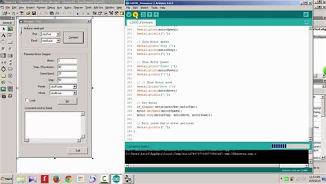 Arduino - Motor Stepper test with Visual Basic 6