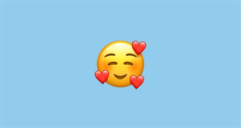 Smiling Face With 3 Hearts Emoji